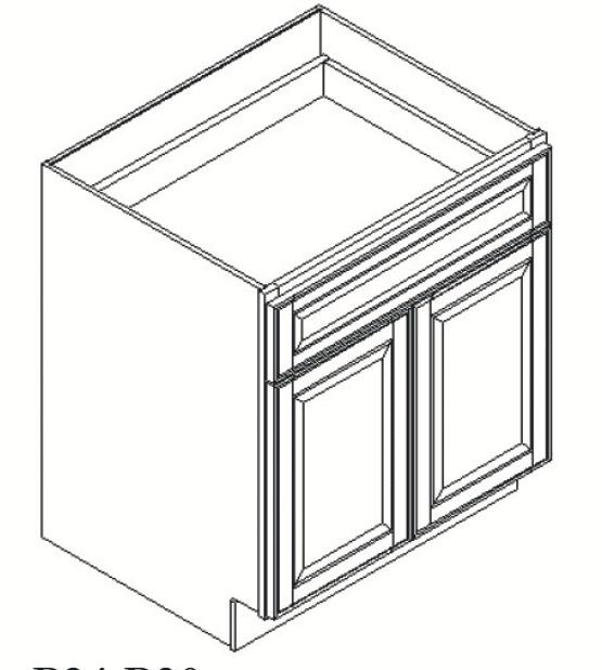 Cabinets, GHI Regal Oak GHI Regal Oak Base Cabinet 24W X 34-1/2H