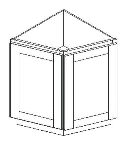 Cabinets, GHI Regal Oak GHI Regal Oak Angle Base Cabinet RGO-BC24