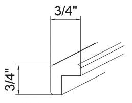Cabinets, GHI Regal Oak GHI Regal Oak Corner Molding 3/4W X 3/4H