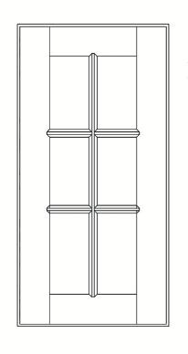 Cabinets, GHI Regal Oak GHI Regal Oak Mullion Door 15W X 42H