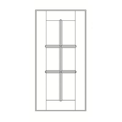 Cabinets, GHI Arcadia White Shaker GHI Arcadia White Shaker Mullion Door 24W X 30H