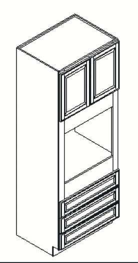 Cabinets, GHI Regal Oak GHI Regal Oak Oven Cabinet 33W X 84H