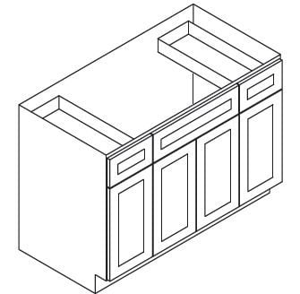 Cabinets, Forevermark Cinnamon Glaze Forevermark Cinnamon Glaze Sink Base Cabinet 60W X 34-1/2H