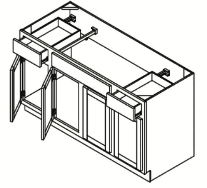 Cabinets, GHI Regal Oak GHI Regal Oak Sink Base Cabinet 60W X 34-1/2H