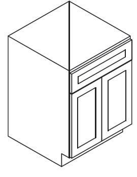 Cabinets, Forevermark Rio Vista White Shaker Forevermark Ice White Shaker Sink Base Cabinet 36W X 34-1/2H