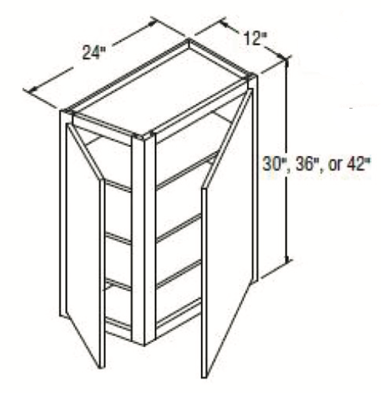 Cabinets, GHI New Castle Gray Wall-Cabinet-WAC30-WAC36-WAC42-