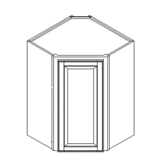 Cabinets, GHI Regal Oak GHI Regal Oak Wall Diagonal Corner Cabinet 24W X 30H