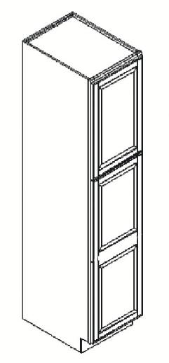 Cabinets, GHI Regal Oak GHI Regal Oak Wall Pantry Cabinet 18W X 84H