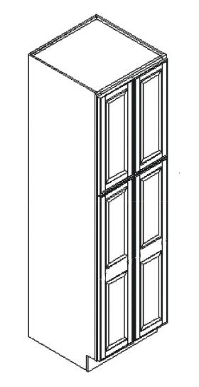 Cabinets, GHI Regal Oak GHI Regal Oak Wall Pantry Cabinet 24W X 84H