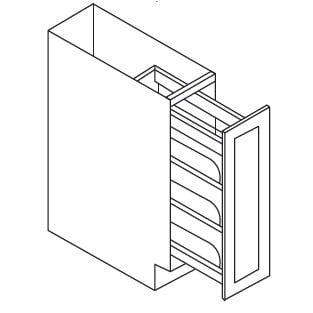 Cabinets, Forevermark Pepper Shaker Forevermark Pepper Shaker Wall & Base - Pull Out Cabinet 9W X 34-1/2H