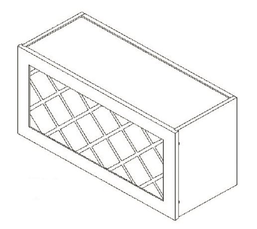 Cabinets, GHI Regal Oak GHI Regal Oak Wine Rack Cabinet 30W X 15H