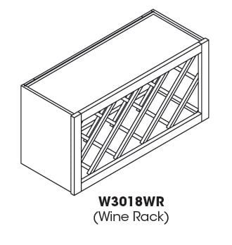 Cabinets, Forevermark Sienna Rope Forevermark Sienna Rope Wine Rack Cabinet 30W X 18H