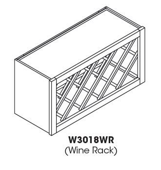 Cabinets, Forevermark Rio Vista White Shaker Forevermark Ice White Shaker Wine Rack Cabinet 30W X 18H