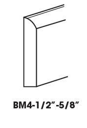 Cabinets, Forevermark Greystone Shaker Forevermark Greystone Shaker Base Board Molding 5/8W X 4-1/2H