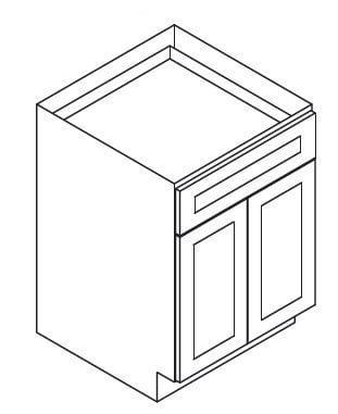 Cabinets, Forevermark Lait Grey Shaker Forevermark Greystone Shaker Base Cabinet 24W X 34-1/2H
