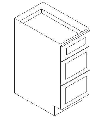 Cabinets, Forevermark Lait Grey Shaker Forevermark Greystone Shaker Drawer Pack Cabinet 12W X 34-1/2H