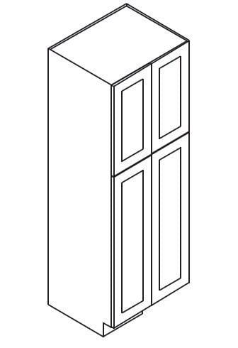 Cabinets, Forevermark Cinnamon Glaze Forevermark Cinnamon Glaze Wall Pantry Cabinet 24W X 84H