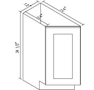 Cabinets, Forevermark Pepper Shaker Forevermark Pepper Shaker Base Transitional Cabinet 12W X 34-1/2H