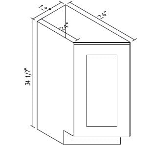 Cabinets, Forevermark Greystone Shaker Forevermark Greystone Shaker Base Transitional Cabinet 12W X 34-1/2H