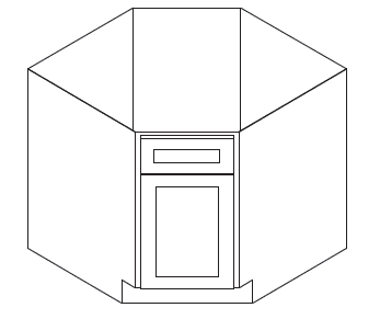 Cabinets, Forevermark Pepper Shaker Forevermark Pepper Shaker Base Diagonal Corner Sink Cabinet 36W X 34-1/2H