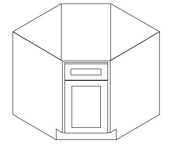 Cabinets, Forevermark Cherry Glaze Forevermark Cherry Glaze Base Diagonal Corner Sink Cabinet 36W X 34-1/2H