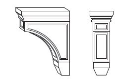 Cabinets, Forevermark Sienna Rope Forevermark Sienna Rope Corbels & Appliques 3W X 9H