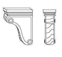 Cabinets, Forevermark Pepper Shaker Forevermark Pepper Shaker Corbels & Appliques AP-CORBEL58