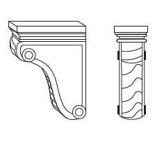 Cabinets, Forevermark Cinnamon Glaze corbels-and-appliques-corbel55-corbel58-