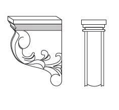 Cabinets, Forevermark Gramercy White Forevermark Gramercy White Corbels & Appliques 3W X 6H