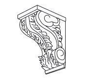 Cabinets, Forevermark Gramercy White Forevermark Gramercy White Corbels & Appliques 5W X 10H