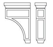 Cabinets, Forevermark Greystone Shaker Forevermark Greystone Shaker Corbels & Appliques 3-1/2W X 12-1/2H