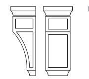 Cabinets, Forevermark Greystone Shaker Forevermark Greystone Shaker Corbels & Appliques 5-1/4W X 12-1/2H