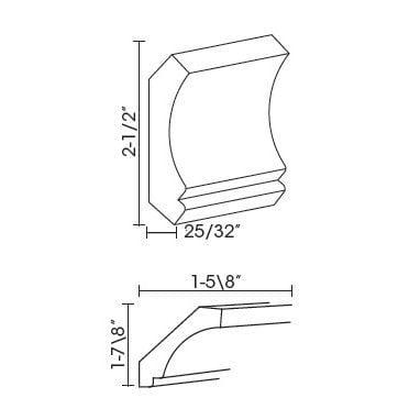 Cabinets, Forevermark Rio Vista White Shaker crown-moldings-cm96-