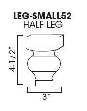Cabinets, Forevermark Cinnamon Glaze decor-legs-and-pilasters-leg-small52-