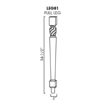 Cabinets, Forevermark Rio Vista White Shaker decor-legs-and-pilasters-leg81-