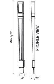 Cabinets, Forevermark Rio Vista White Shaker Forevermark Ice White Shaker Décor Legs And Pilasters 3W X 34-1/2H