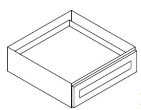 Cabinets, Forevermark Ice White Shaker desk-drawer-svdu3021-7-
