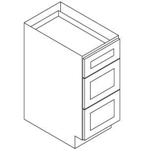 Cabinets, Forevermark Greystone Shaker, Forevermark Greystone Shaker Forevermark Greystone Shaker Vanity Drawer Pack 12W X 34-1/2H