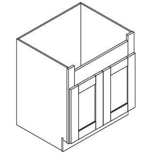 Cabinets, Forevermark Lait Grey Shaker Forevermark Greystone Shaker Farm Sink Base Cabinet 36W X 34-1/2H