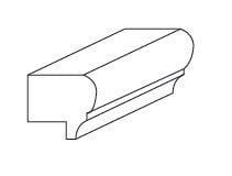 Cabinets, Forevermark Gramercy White Forevermark Gramercy White Light Rail Molding 1-1/2W X 1H
