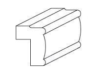 Cabinets, Forevermark Greystone Shaker Forevermark Greystone Shaker Light Rail Molding 1-1/2W X 2-1/4H
