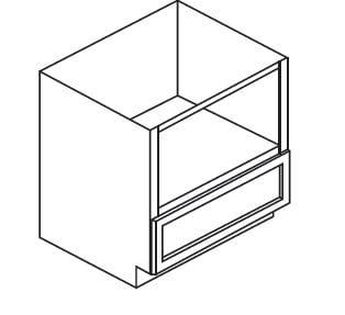 "Cabinets, Forevermark Rio Vista White Shaker Forevermark Ice White Shaker Microwave Base Cabinet AW-B30MW (30""W)"