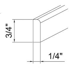 Cabinets, GHI Regal Oak GHI Regal Oak Corner Molding 1/4W X 3/4H