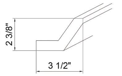 Cabinets, GHI Arcadia Linen GHI Arcadia Linen Corner Molding 3-1/2W X 2-3/8H