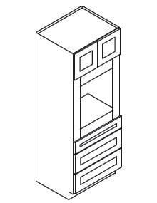 Cabinets, Forevermark Ice White Shaker Forevermark Ice White Shaker Oven Cabinet 33W X 96H