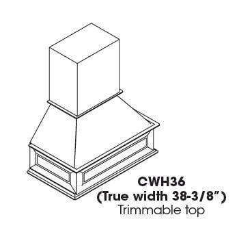 Cabinets, Forevermark Gramercy White Forevermark Gramercy White Range Hood GW-CWH36