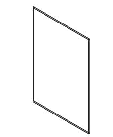 Cabinets, Forevermark Ice White Shaker Forevermark Refrigerator End Panel 24W X 96H