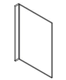 Cabinets, Forevermark Ice White Shaker Forevermark Ice White Shaker Refrigerator End Panel 30W X 96H