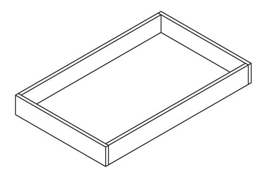 Cabinets, Forevermark Gramercy White Forevermark Gramercy White Roll Out Tray 23W X 2-7/8H