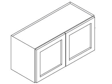 Cabinets, Forevermark Rio Vista White Shaker Forevermark Ice White Shaker Wall Cabinet 36W X 24H